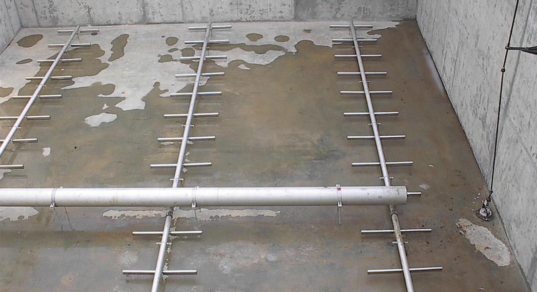Voorbeeld van een permanente installatie.